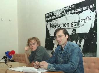 Foto 2 Pressekonferenz: Maria Hintersteiner + Martin mair